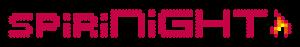 Logo- Schriftzug spiriNIGHT2020 kjrot mit Flamme