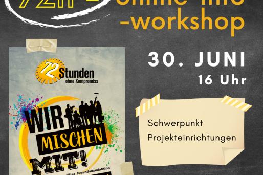 Den ganzen Beitrag zu [Workshop] 72 Stunden Info – 30. Juni & 1. Juli! lesen