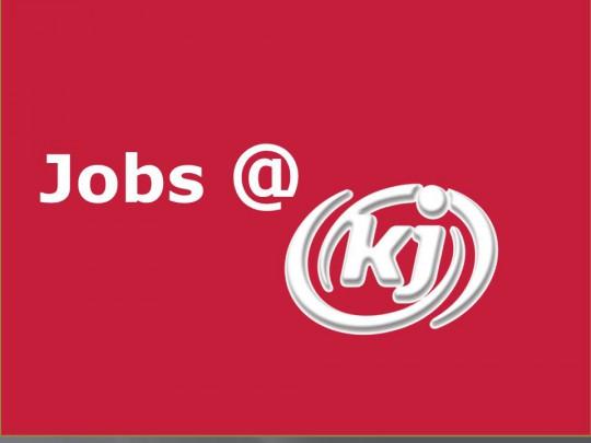 Schriftzug Jobs @ KJ
