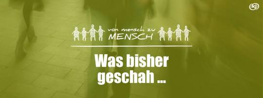 """Logo """"Von Mensch zu Mensch"""" plus Schriftzug: Was bisher geschah ..."""