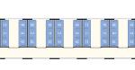 Skizze Abteilwagen mit Sitzen