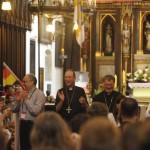 von links. Kardinal Schönborn, Bischof Krautwaschl, Jugendbischof Turnovszky, Bischof Scheuer und Weihbischof Leichtfried