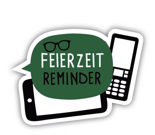Feierzeitzeit Reminder Logo