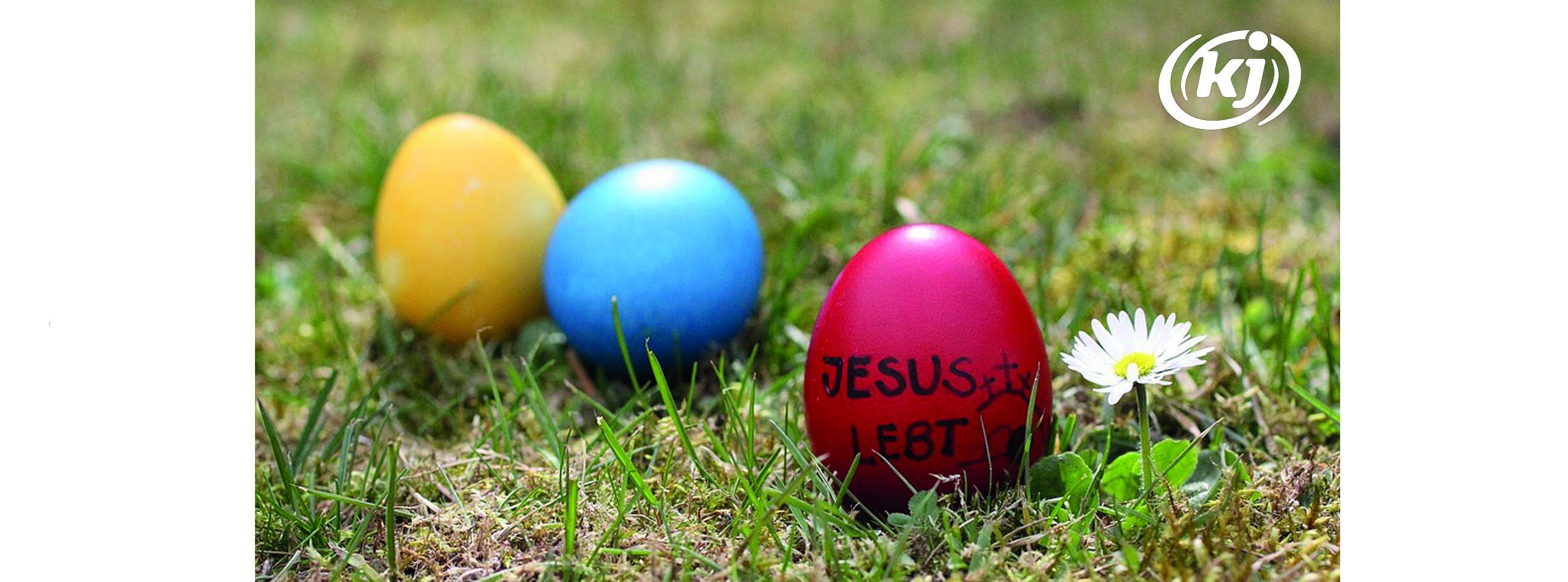 Ostereier Jesus lebt!