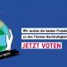 Laudato si - Awards Votingaufruf