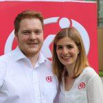 die ehemaligen Vorsitzenden der Katholischen Jugend Österreich Matthias Kreuzriegler und Sophie Matkovits